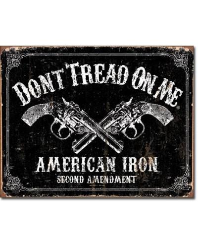 Plechová cedule DTOM - American Iron 40 cm x 32 cm