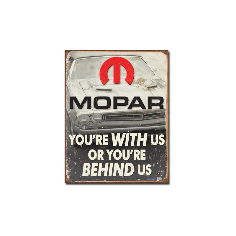 Plechová cedule MOPAR - You are behind us 32 cm x 40 cm