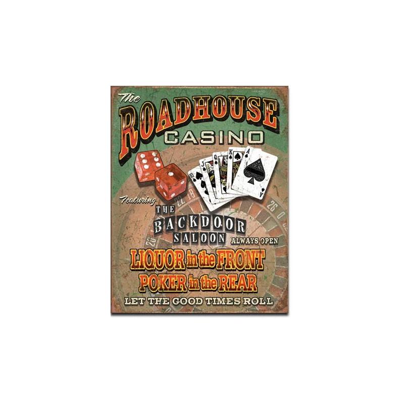 Plechová cedule Roadhouse Bar & Casino 40 cm x 32 cm