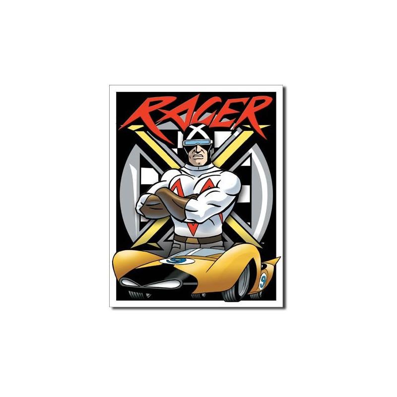 Plechová cedule Speed Racer - Racer X 32 cm x 40 cm