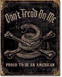 Plechová cedule DTOM - Proud American 40 cm x 32 cm