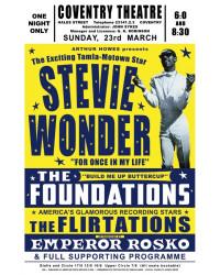 Koncertní plakát Stevie Wonder, UK, 1969