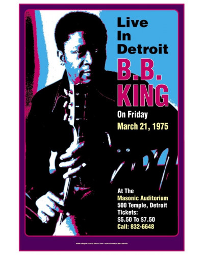 plakát BB King, Detroit, 1975