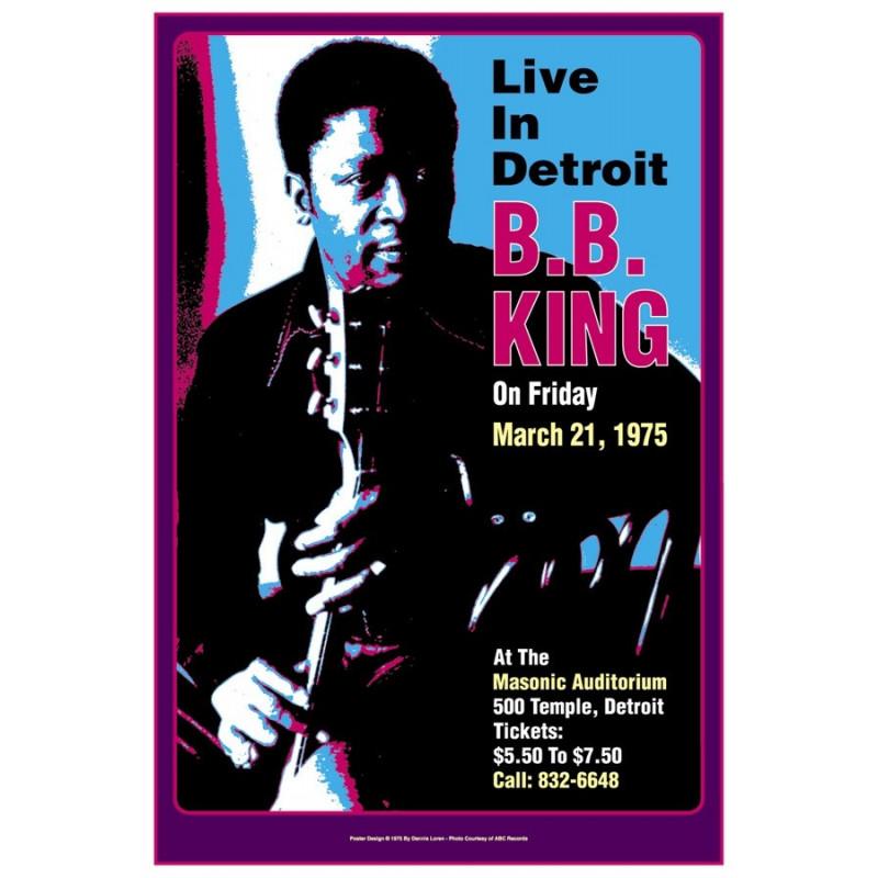 Koncertní plakát BB King, Detroit, 1975