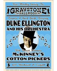 Koncertní plakát Duke Ellington, 1933