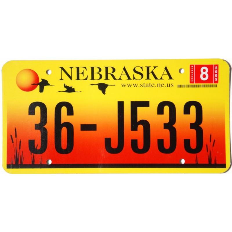 Americká SPZ Nebraska Sandhill Crane