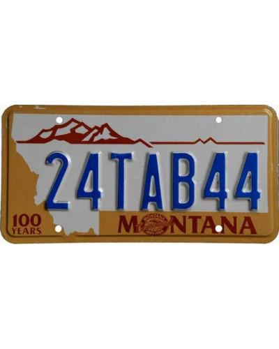 Americká SPZ Montana 100 years