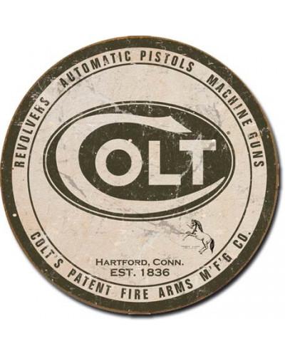 Plechová cedule Colt - Round Logo 28 cm