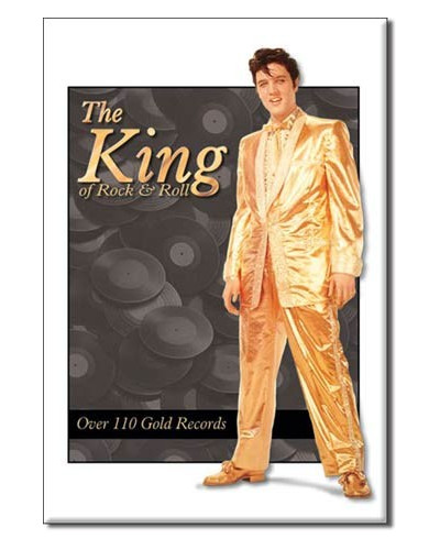 Magnet Elvis Gold Lame Suit