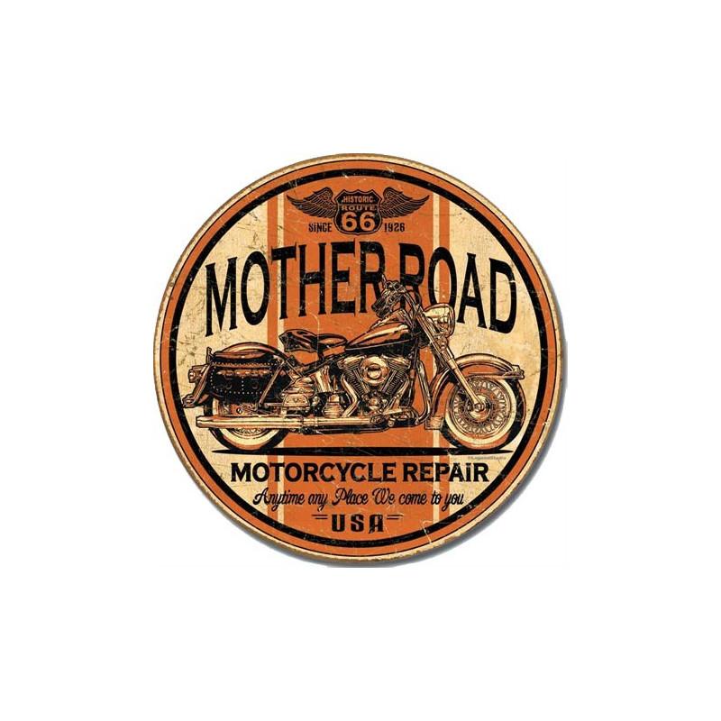 Plechová cedule Mother Road Repair 28 cm