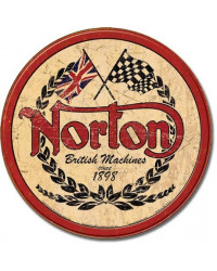 Plechová cedule Norton - Logo Round 28 cm