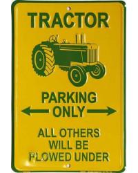 Plechová cedule Tractor Parking only 20 cm x 30 cm