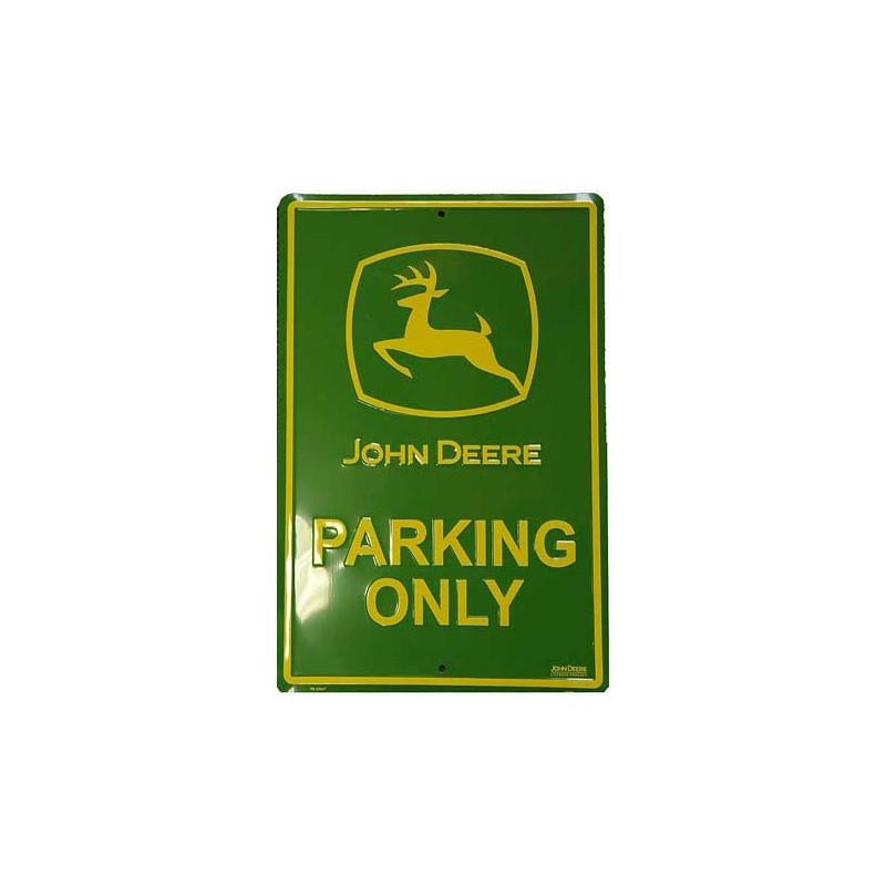 Plechová cedule John Deere Parking only 45 cm x 30 cm