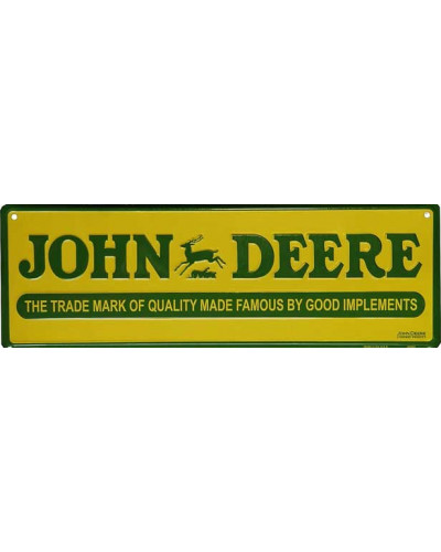 Plechová cedule John Deere sign 46cm x 15 cm