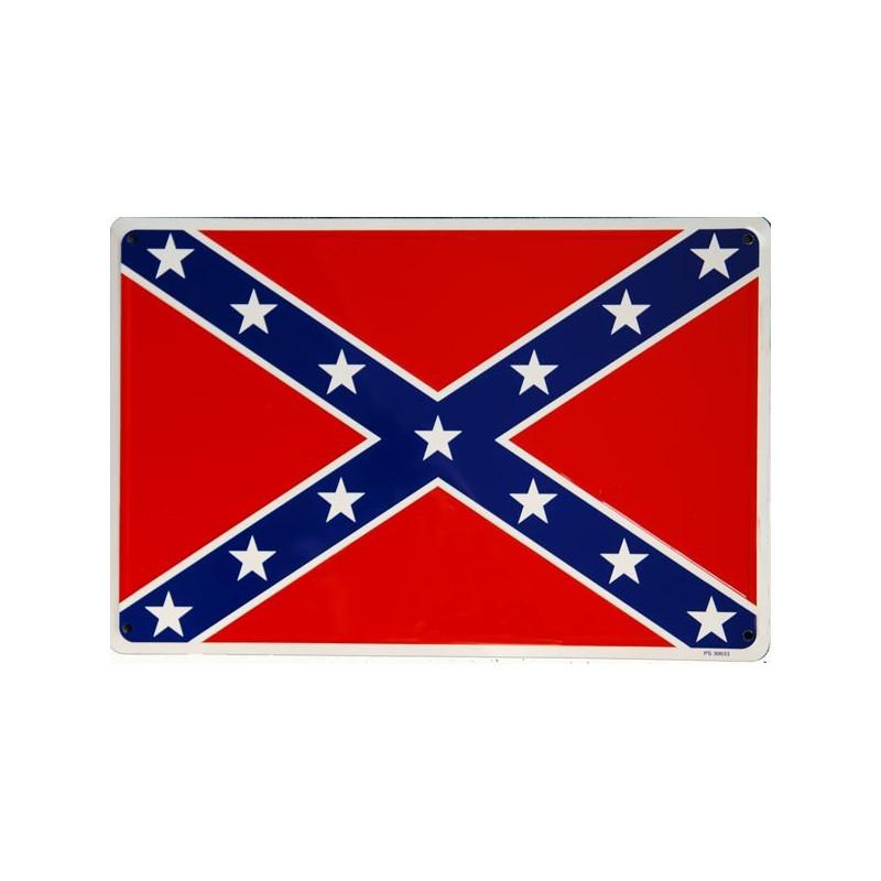 Plechová cedule Confederate Flag 45cm x 30cm