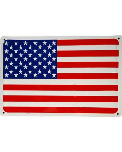 Plechová cedule vlajka USA  45cm x 30cm