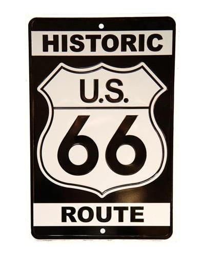 Plechová cedule Historic Route 66 prolisovaná, 20cm x 30 cm