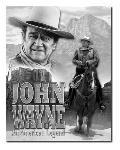 Plechová cedule John Wayne...