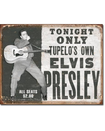 Plechová cedule Elvis - Tupelos Own 40 cm x 32 cm