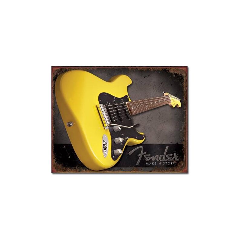 Plechová cedule Fender - Make History 40 cm x 32 cm