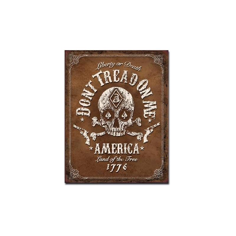 Plechová cedule DTOM - Black Jack 40 cm x 32 cm
