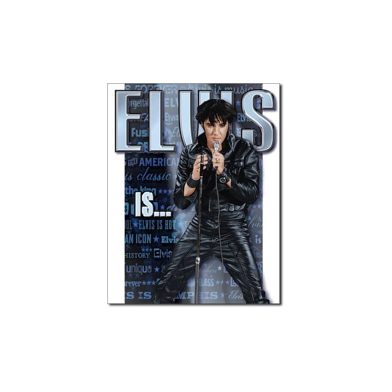 Plechová cedule Elvis Is 32 cm x 40 cm