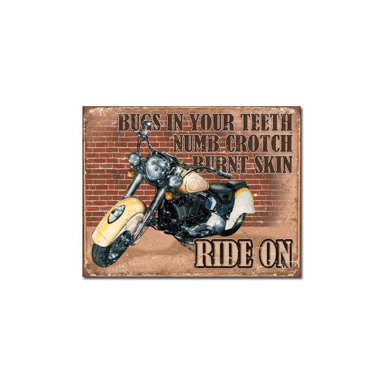 Plechová cedule Ride on 32 cm x 40 cm