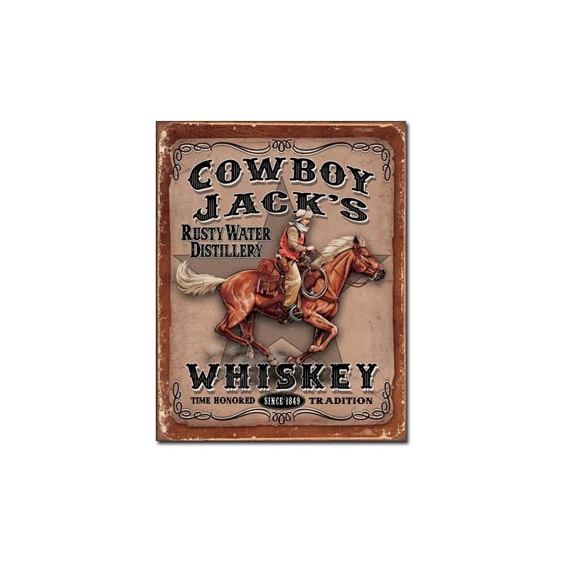 Plechová cedule Cowboy Jacks 40 cm x 32 cm