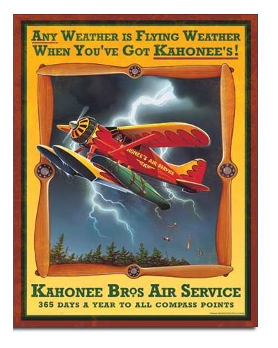 Plechová cedule Kahonee Air Service 32cm x 40 cm