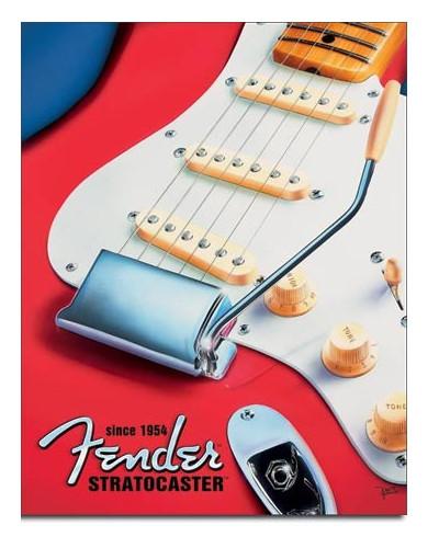 Plechová cedule Fender - Strat since 1954