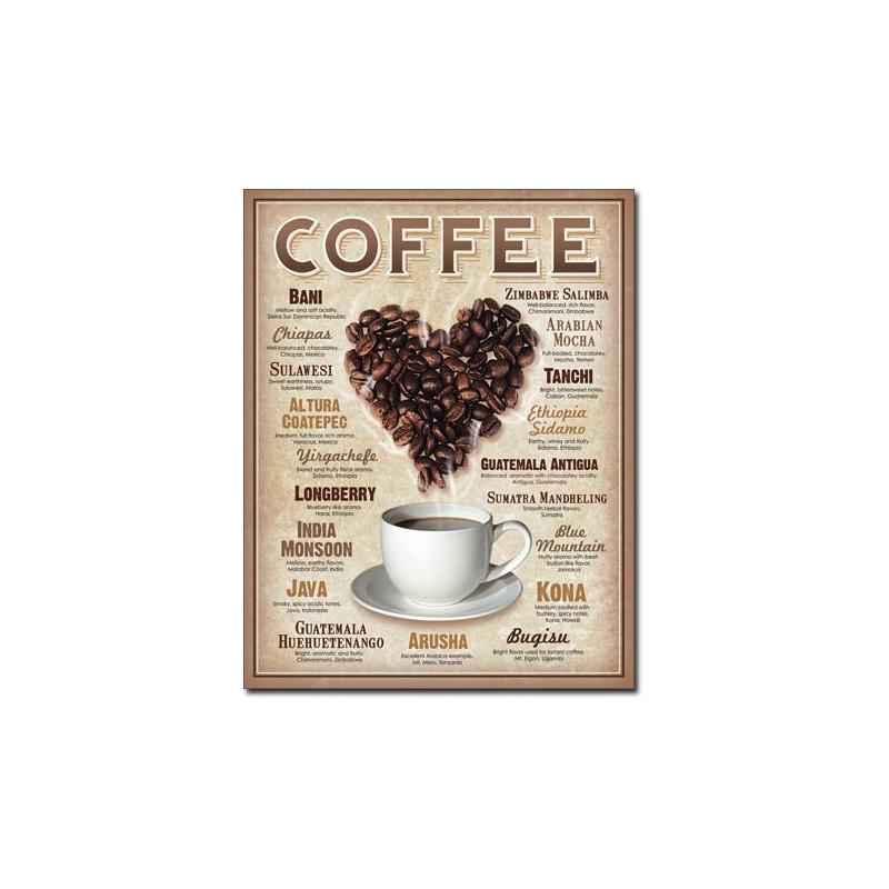 Plechová cedule Heart Coffee 40 cm x 32 cm