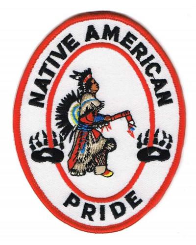 Moto nášivka Native American Pride oval 11cm x 8cm