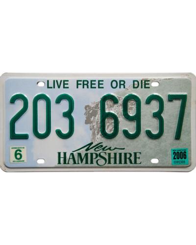 Americká SPZ New Hampshire...