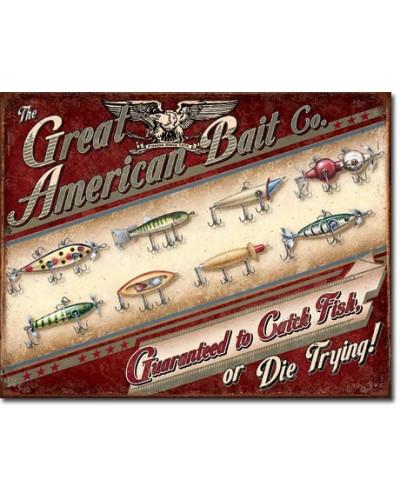 Plechová cedule Great American Bait Co. 40 cm x 32 cm