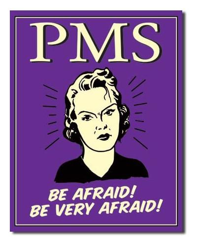 Plechová cedule PMS - Be Afraid 40 cm x 32 cm