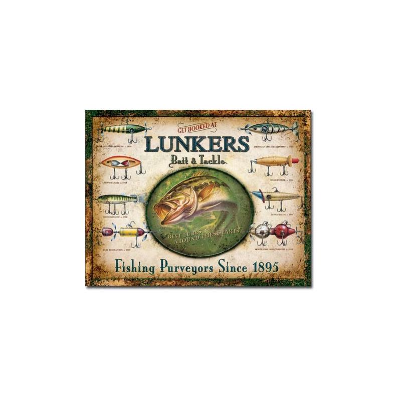 Plechová cedule Lunker's Lures 40 cm x 32 cm