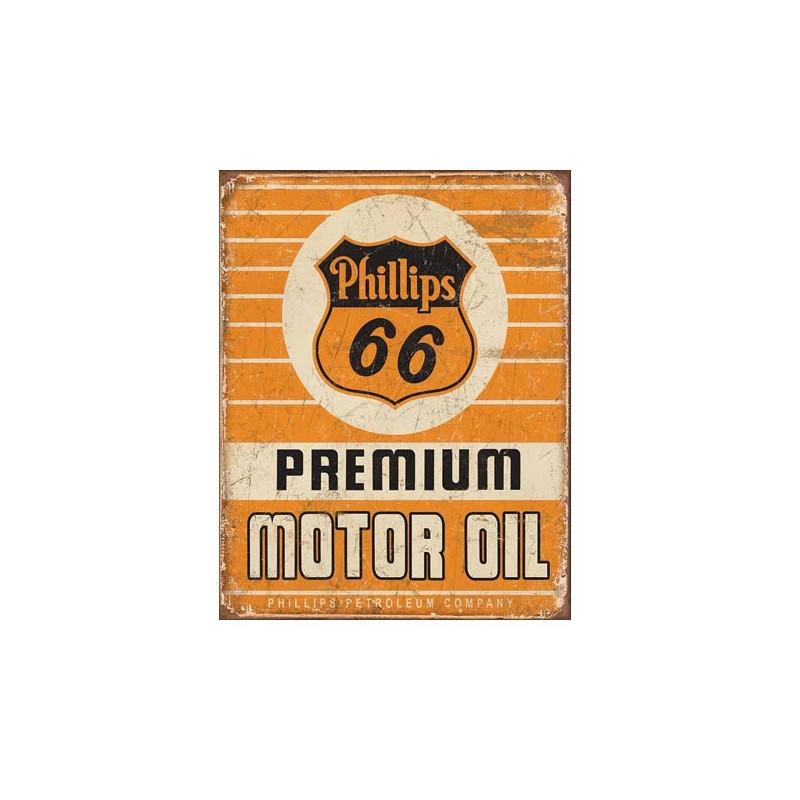 Plechová cedule Phillips 66 Premium Oil 40 cm x 32 cm