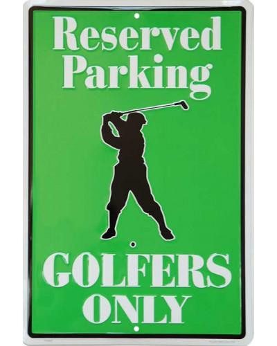 Plechová cedule Golfers Only Reserved Parking 45 cm x 30 cm