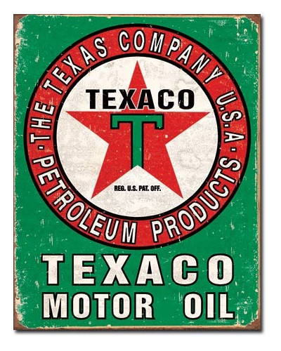 cedule Texaco Oil Weathered