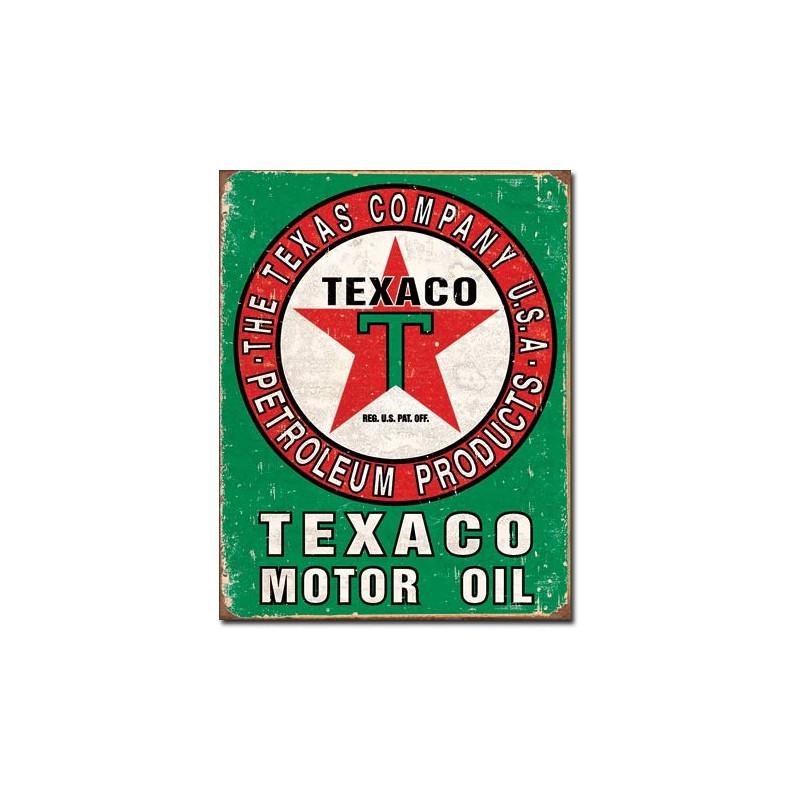 Plechová cedule Texaco Oil Weathered 32 cm x 40 cm