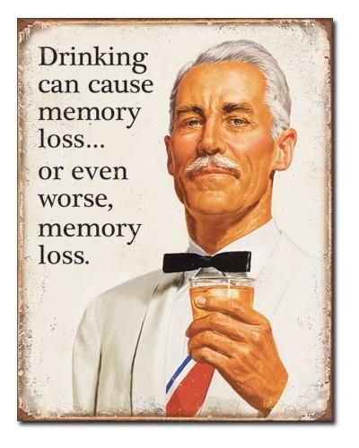 Plechová cedule Ephemera - Memory Loss 32 cm x 40 cm