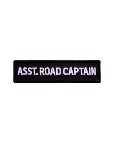 Moto nášivka Asst. Road Captain white 10cm x 2,5cm