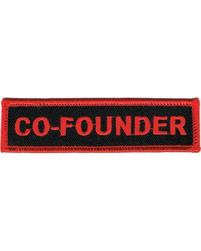 Moto nášivka Co-Founder red 10cm x 2,5cm