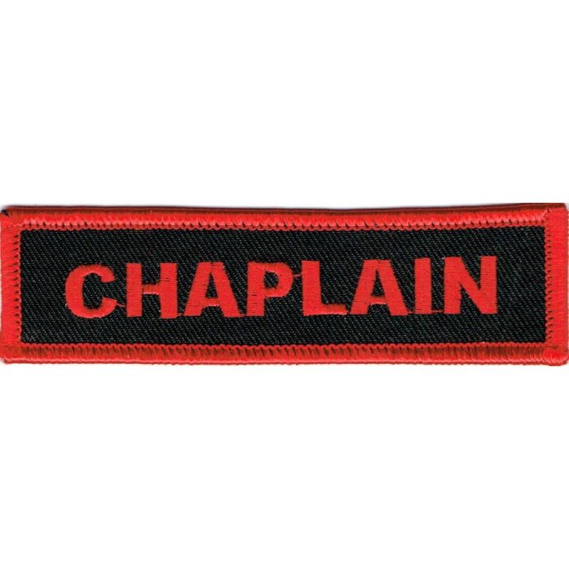 Moto nášivka Chaplain red 10cm x 2,5cm