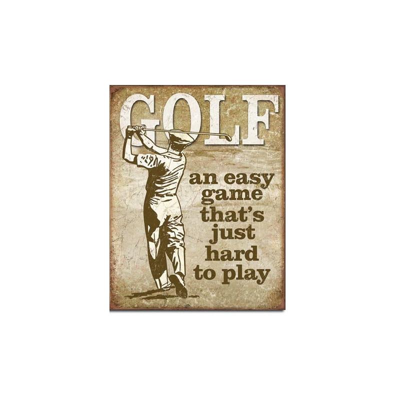 Plechová cedule Golf - Easy Game 40 cm x 32 cm