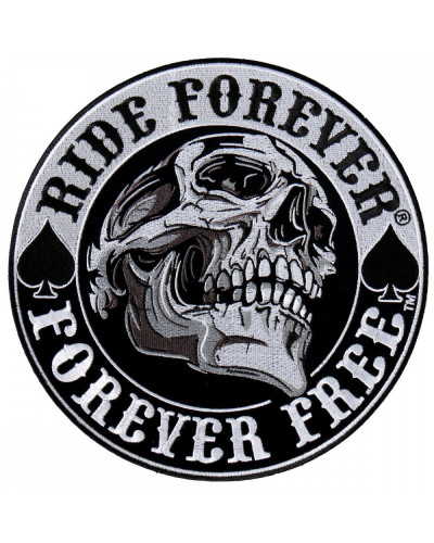 Moto nášivka BS Spade Skull XXL