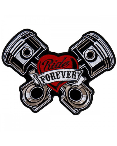 Moto nášivka BS Piston Patch Ride Forever 8cm x 12cm