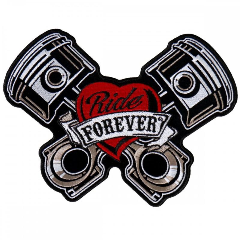 Moto nášivka BS Piston Patch Ride Forever 8cm x 12cm