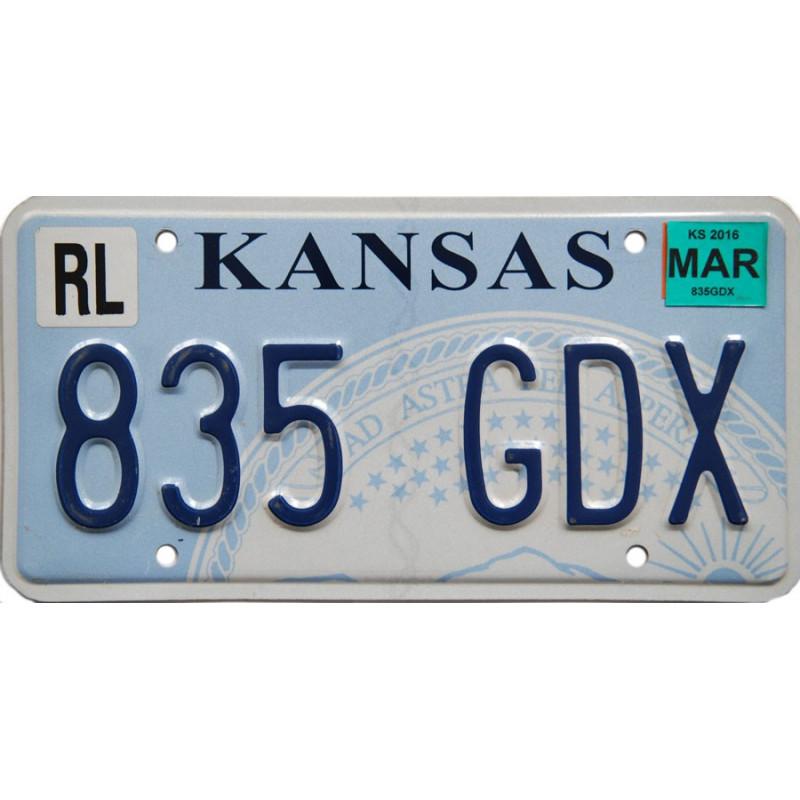 Americká SPZ Kansas State Seal