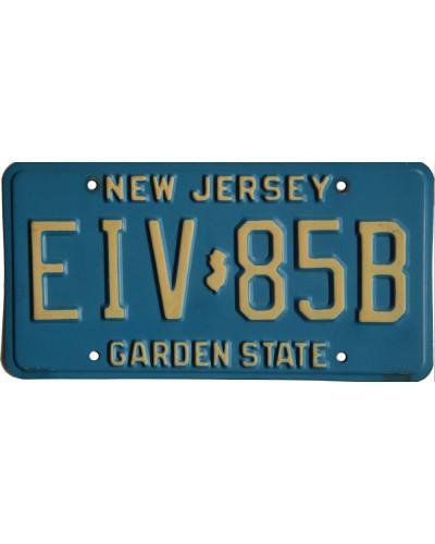 Americká SPZ New Jersey Garden State Blue